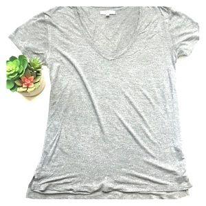 Madewell Gray shortsleeved v-neck t-shirt size S